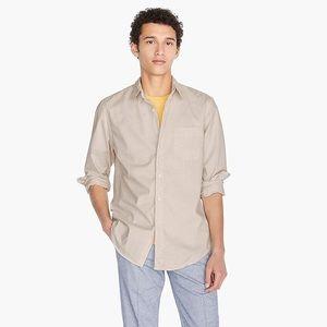 Men's J Crew Tall Secret Wash shirt Natural New